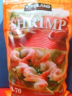 カークランド 調理済み 尾なし 冷凍エビ 50-70 (Cooked Tail-Off SHRIMP)