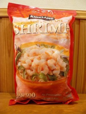カークランド 調理済み 尾なし 冷凍エビ 200-300 (Cooked Tail-Off SHRIMP)