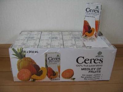 Ceres(セレス) メドレーオブフルーツ 200ml×24P