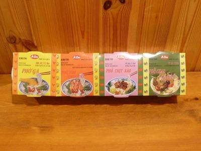 アジアンヌードル(フォー) 4種類アソート(チキン・ピリ辛エビ・ポーク・ベジタブル)