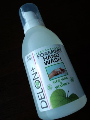 DELON+ FOAMING HAND WASH ALOE VWRA&VITAMIN E