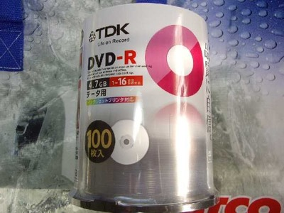 TDK DVD-R 4.7GB データ用 100枚入り