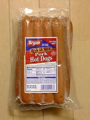 ブリアン ポーク ホットドッグ Bryan Pork Hot Dogs