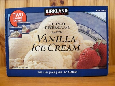 カークランド スーパープレミアム バニラアイスクリーム