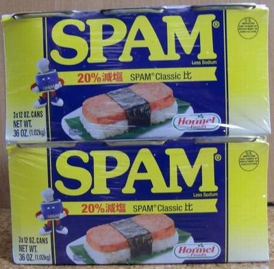 Hormel Foods SPAM ホーメル スパム 20% レスソルト