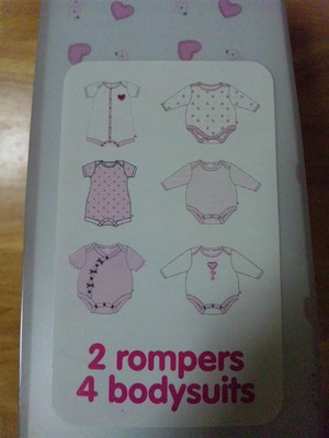 magg jacobs  100%cotton 2rompers 4bodysuits