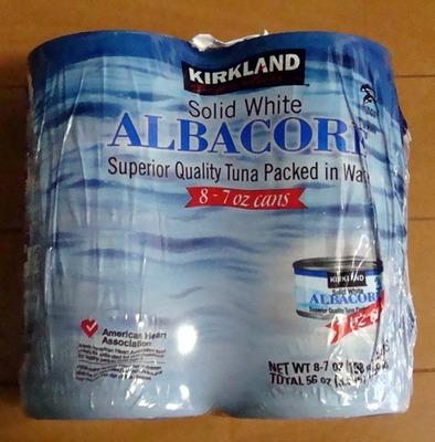 カークランド まぐろ水煮缶 (ALBACORE TUNA)