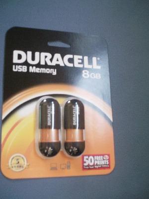 DURACELL USBメモリー8GB + デジタルプリント50枚引換券付