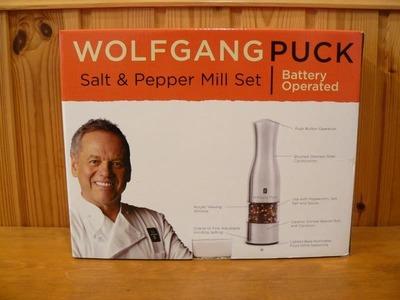 WOLFGANG PUCK 電動ペッパーミル 2個セット