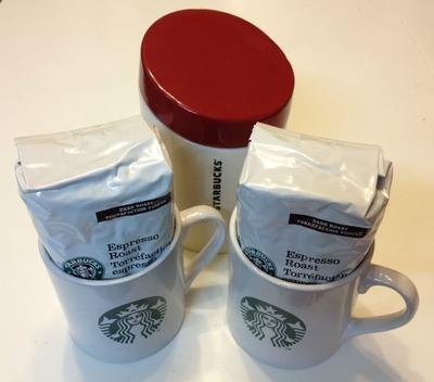 スターバックス コーヒー、キャニスター&マグギフト(STARBUCKS Coffee,Canister & Mugs Gift)
