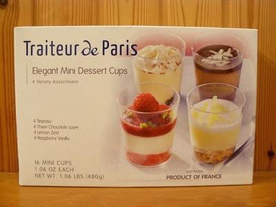 Traiteur de Paris エレガント ミニ デザートカップ