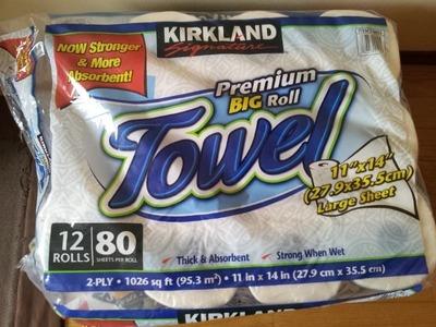 (名無し)さん[70]が投稿したカークランド プレミアムビッグロールペーパータオル(キッチンペーパー)の写真