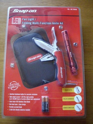 SNAP-ON(スナップオン) LEDペンライト多機能マルチナイフ専用ポーチ付