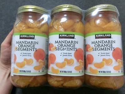 カークランド マンダリンオレンジ みかんシラップづけ(ライト) 瓶詰