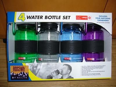 4 WATER  BOTTLE SET