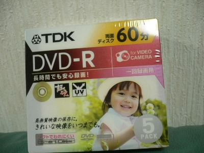 TDK デジタルビデオカメラ用DVD-R5枚60分