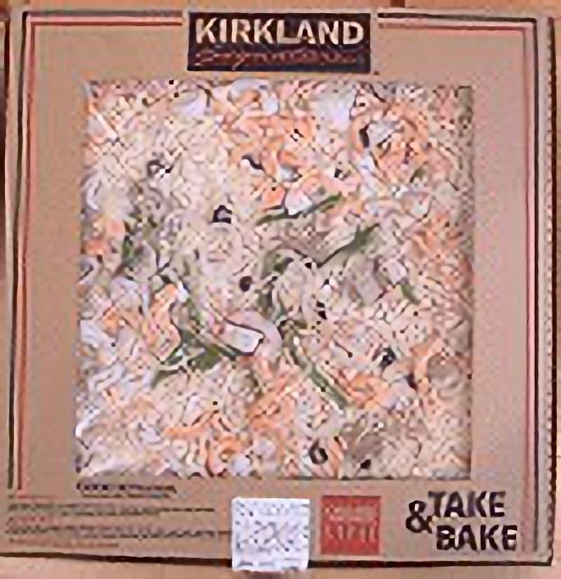 [2]が投稿したカークランド テイクベイク 四角ピザ シーフードの写真