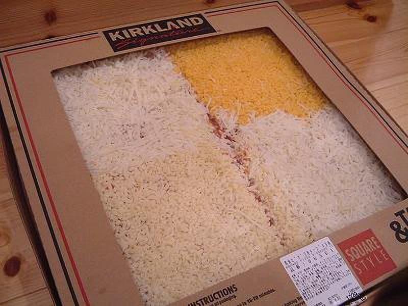 [2]が投稿したカークランド テイクベイク 四角ピザ 3色チーズの写真