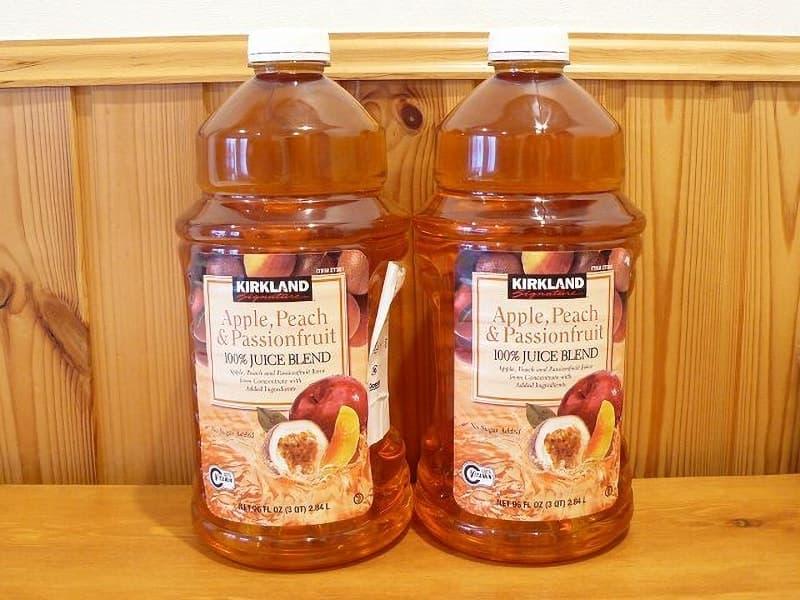 [2]が投稿したカークランド 果実ジュース アップル&ピーチ&パッションフルーツの写真