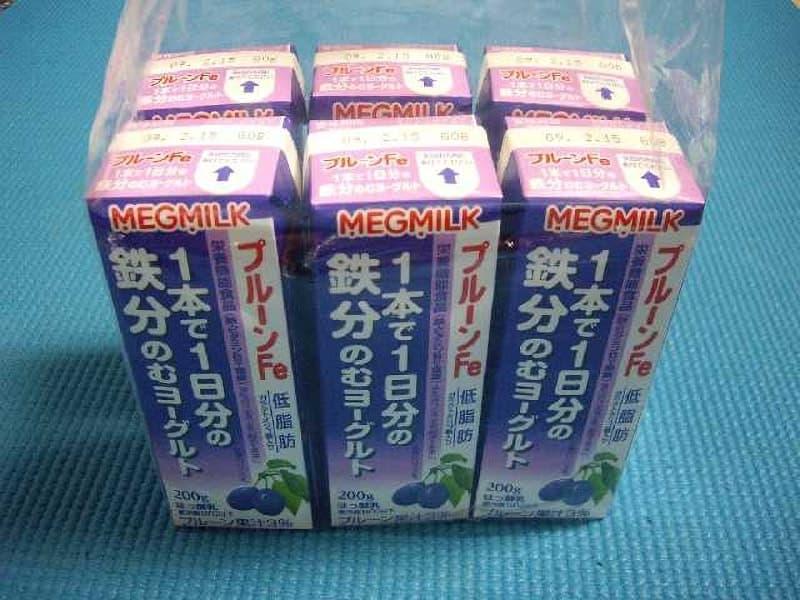 [2]が投稿したMEGMILK プルーンFe1本で1日分の鉄分のむヨーグルトの写真