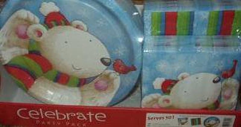 [2]が投稿したCelebrate PARTY PACK パーティーパック 紙皿&ナプキン 150PC 白くま ポーラーベアの写真
