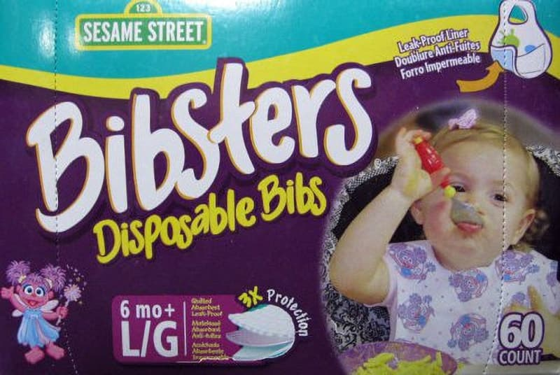 [2]が投稿したBibsters Disposable Bibs セサミストリート ビブスター 紙スタイ よだれかけ 60枚の写真