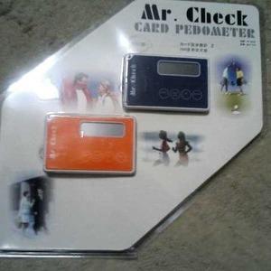 オーム電機 Mr.Check カード型歩数計 2ケパック
