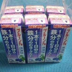 MEGMILK プルーンFe1本で1日分の鉄分のむヨーグルト