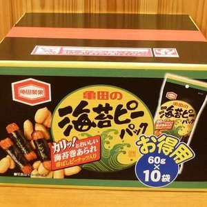 亀田製菓 亀田の海苔ピーパック お徳用 60g×10袋