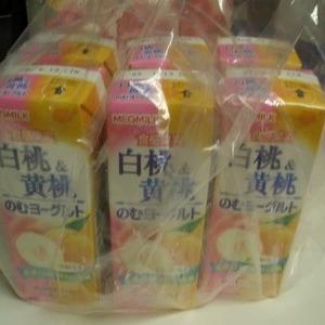 メグミルク のむヨーグルト 白桃&黄桃 5P