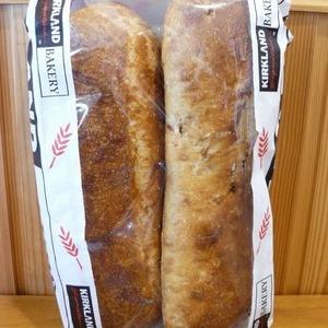 カークランド アーティサンブレッド 全粒パン&ローズマリー&チーズ&ガーリックオニオン