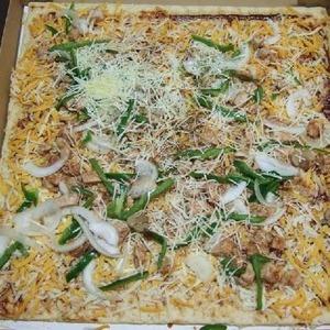 カークランド テイクベイク 四角BBQチキンピザ