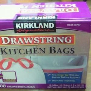 カークランド KITCHIN BAG  ひも付きポリ袋