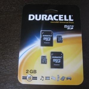 DURACELL microSD2GB2個+デジタルプリント50枚引換券
