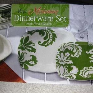 メラミン ディナーウェアセット 16pc (Melamine Dinnerware Set)