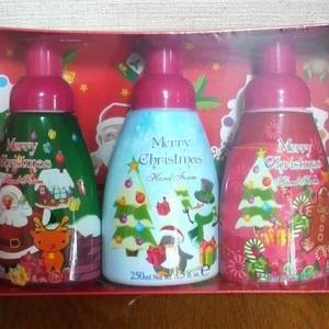 日本ランウェル ダンシングファーム 泡ハンドウォッシュ 3個入り クリスマスバージョン