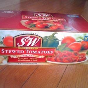 S&W トマト缶 バジル&オレガノ風味  STEWED TOMATO