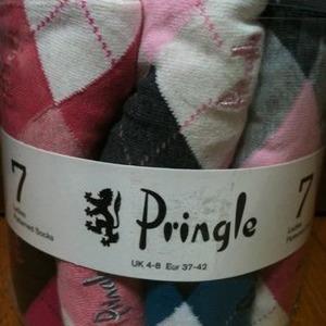 PRINGLE ソックス 7足組