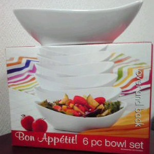 Bon appetit! 6pc bowl set
