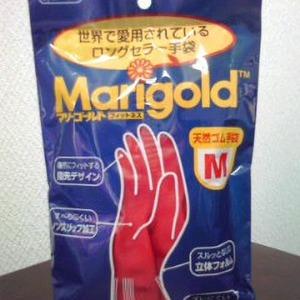 オカモト マリーゴールド Marigold ゴム手袋 中厚手 4p