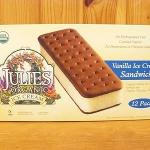 JULIE'S オーガニック バニラ アイスクリーム サンドイッチ 12Pack