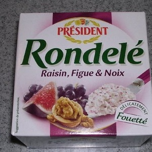 Rondele  PRESIDENT Raisin Figue&Noix (いちじく&レーズン)