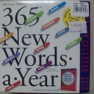 Merriam-Webster's カレンダー 365 New Words-a-Year 2012