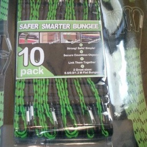 SAFER SMARTER BUNGEE 10PK (伸縮性のある紐)