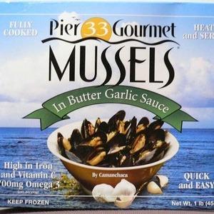 pier 33 gourmet ムール貝 バターガーリック味