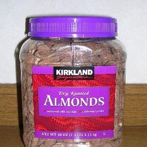 カークランド DRY ROASTED ALMONDS (ローストアーモンド)