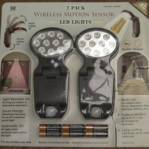 Meqabrite ワイヤレス モーションセンサー LEDライト 2PACK