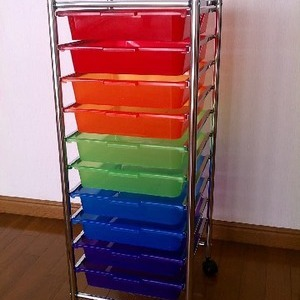 MessageStor 10Drawer Roling Organizer カラフル (10段キャビネット)
