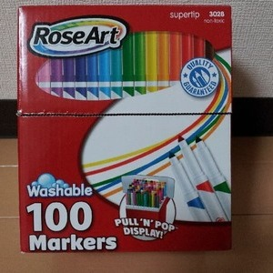 RoseArt WASHABLE MARKERS ローズアート ウォッシャブルマーカー