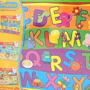 The Learning JOURNEY 5 in A Box PRESCHOOL PLAYBOX 28ピースのパズル5種類セット